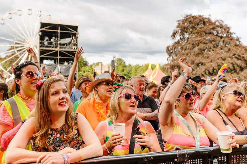 Front row fans at Rewind Festival Scotland