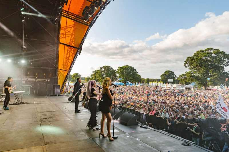 Main stage view at Rewind Festival Scotland