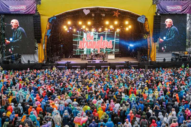 The Stranglers performing at main stage at Rewind Festival Scotland