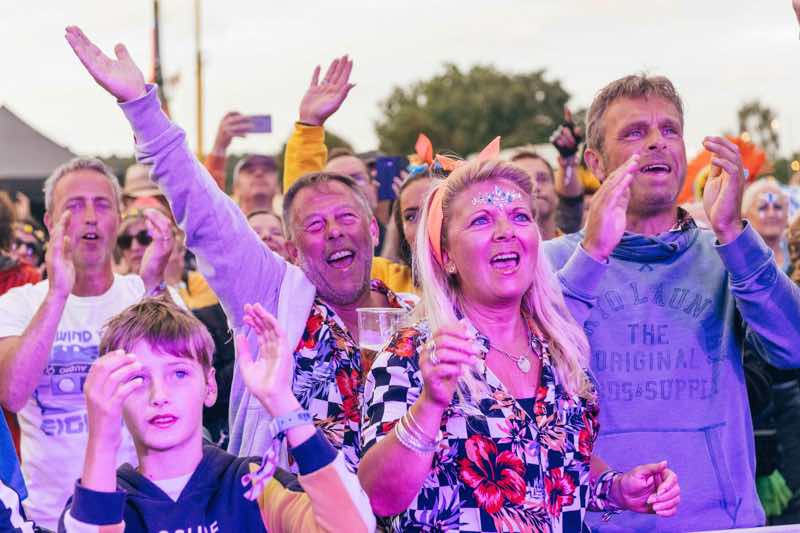 Fans enjoying at Rewind Festival South