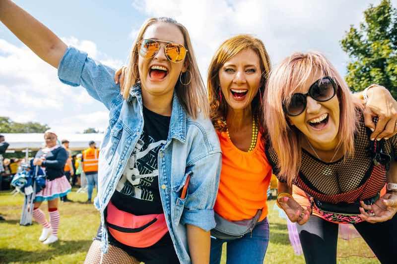Fans having fun at Rewind Festival South