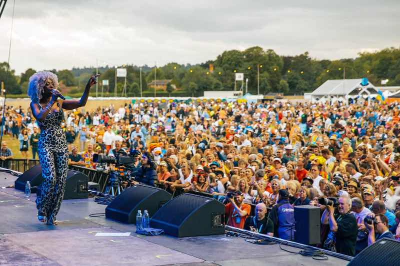 Performing at Rewind Festival South