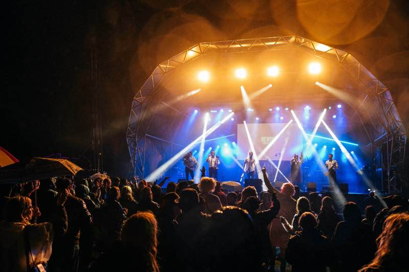 Stage lights show at Rewind Festival South