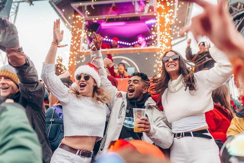 Fans dancing at Rise Festival