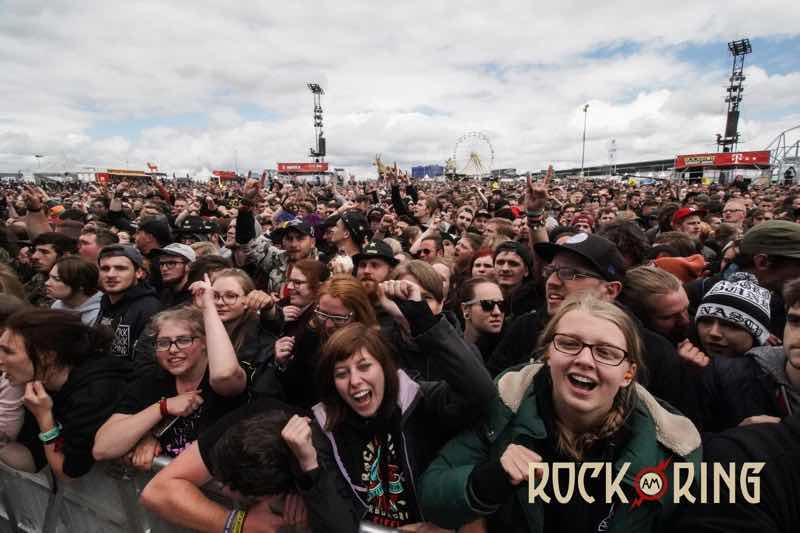 Fans dancing at Rock am Ring Festival