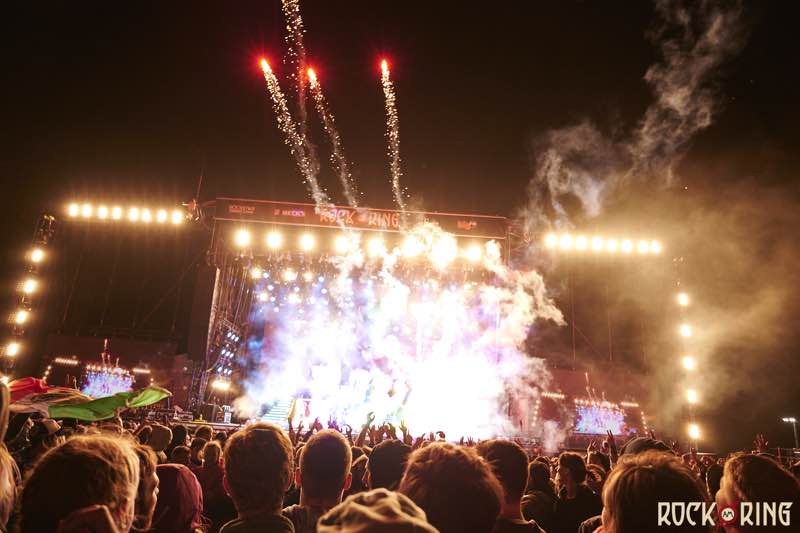 Fireworks on stage at Rock am Ring Festival