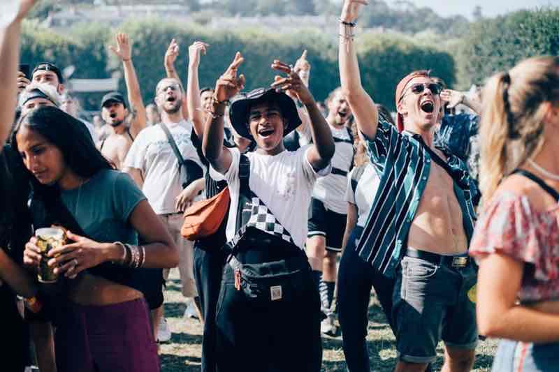 Fans excited at Rock en Seine Festival