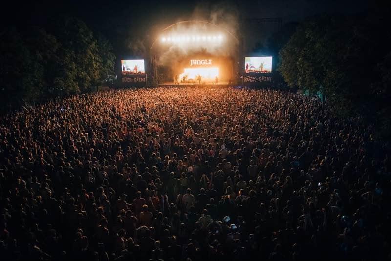 Stage lights at Rock en Seine Festival
