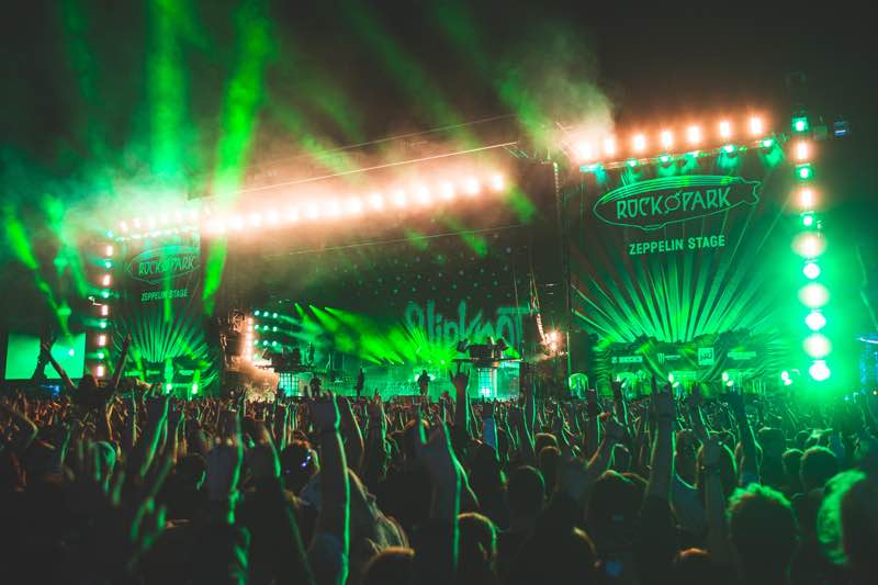 lights show at rock im Park Festival