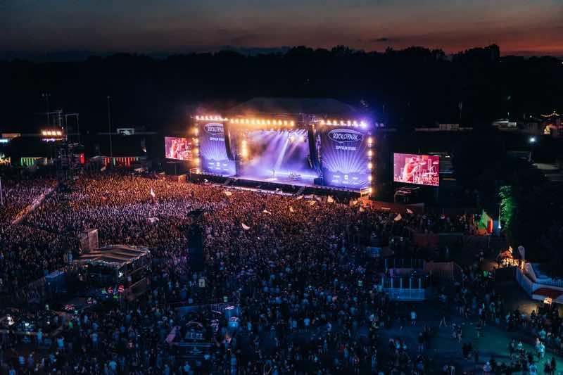 Stage lights at rock im Park Festival