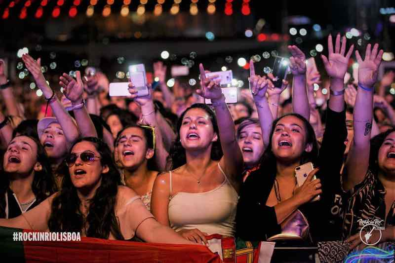Front row fans at Rock in Rio Lisboa Festival