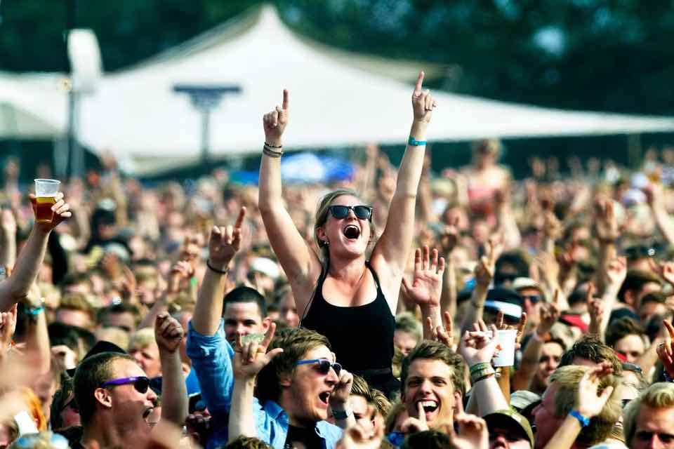 Fans excited at Roskilde Festival
