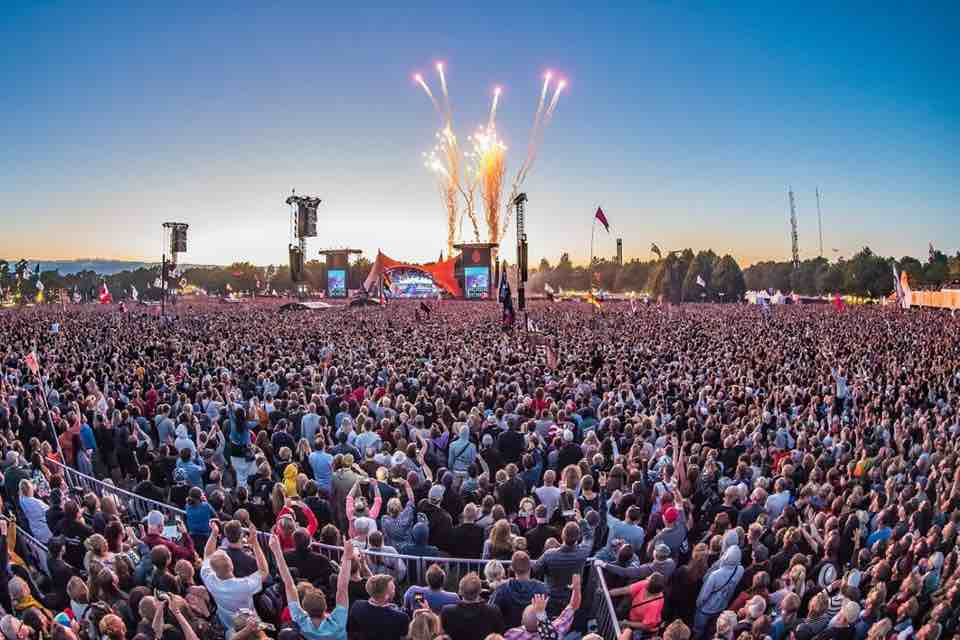 Fireworks at Roskilde Festival