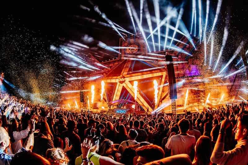Party lights at Saga Festival Bucharest