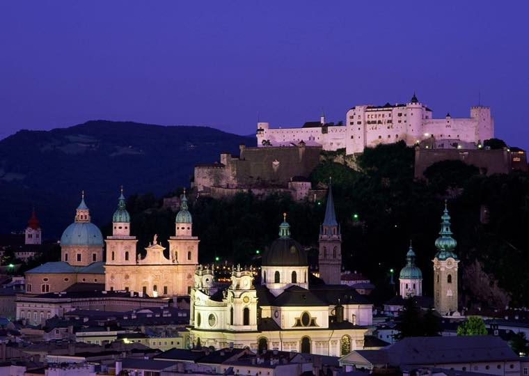 Castle City View in Salzburg