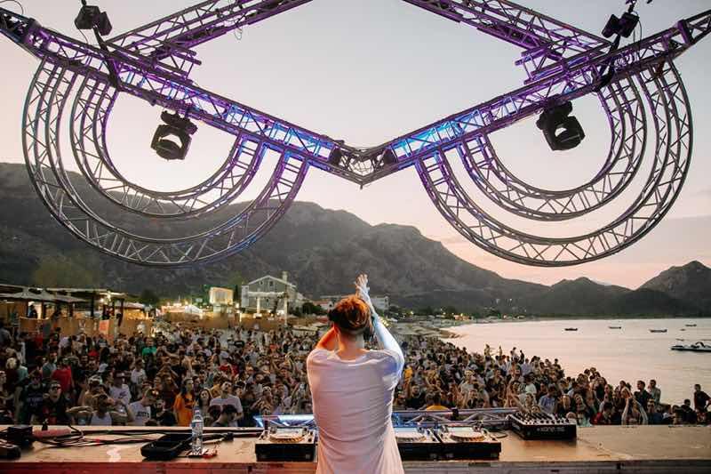 Dj box view at Sea Dance Festival
