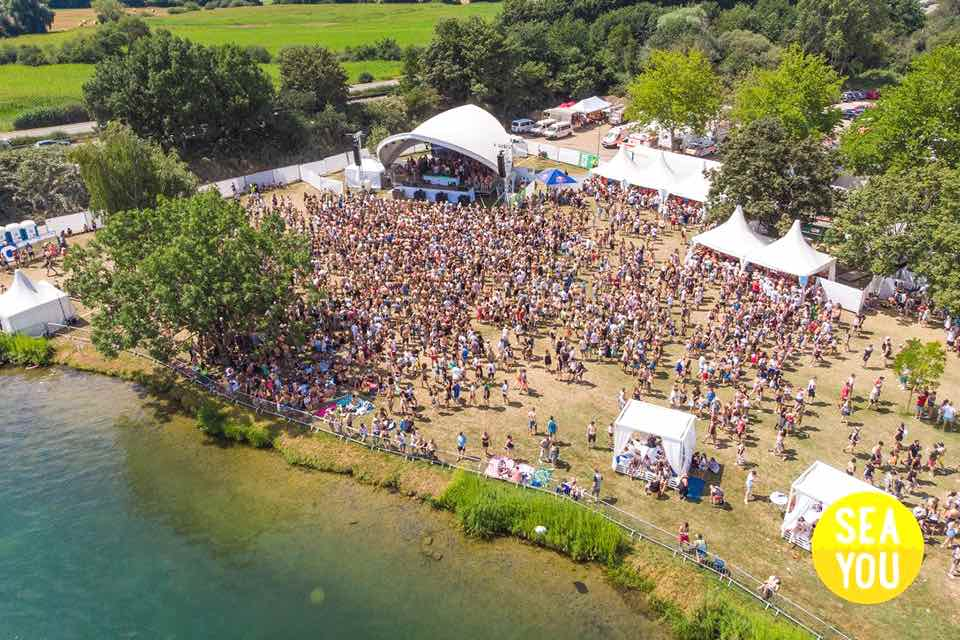 Aerial view at Sea You Festival
