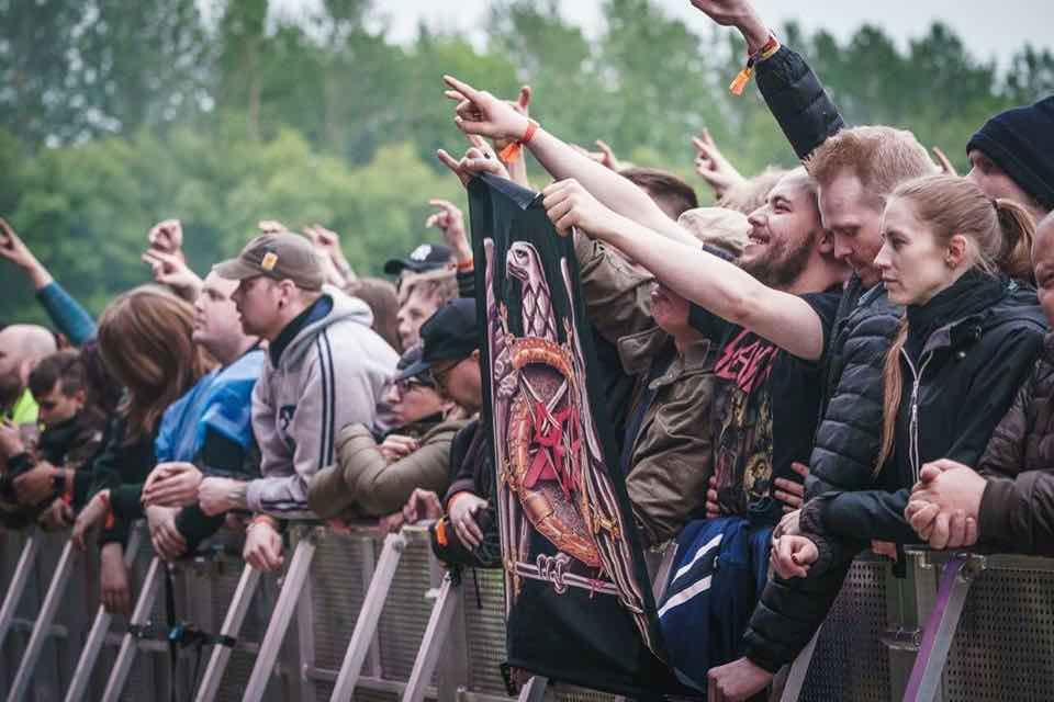 Front row fans at Secret Solstice Festival