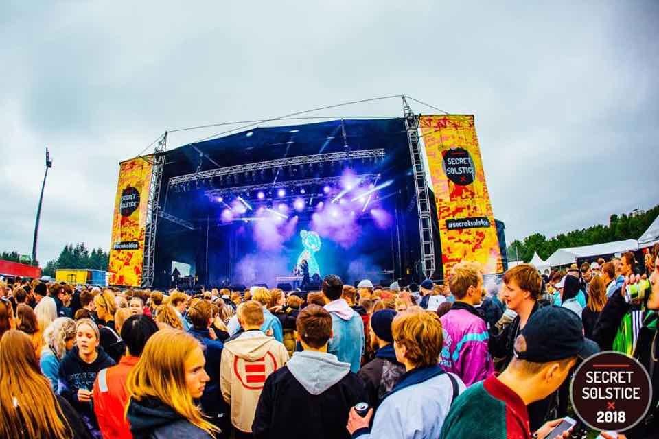 Main stage at Secret Solstice Festival