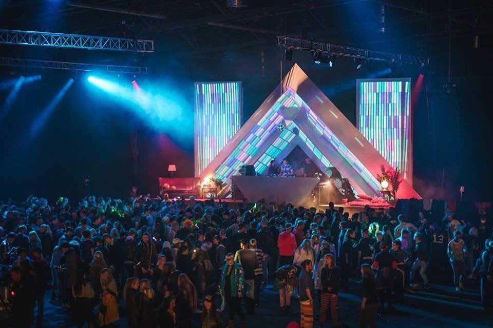 Stage lights at Secret Solstice Festival