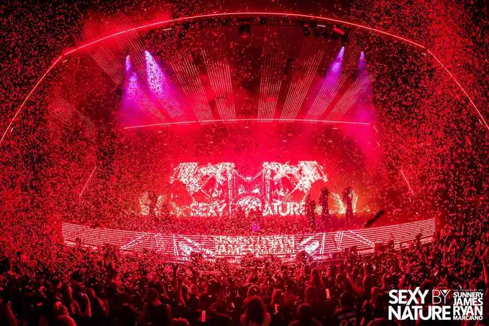 Party stage at sexy by nature festival