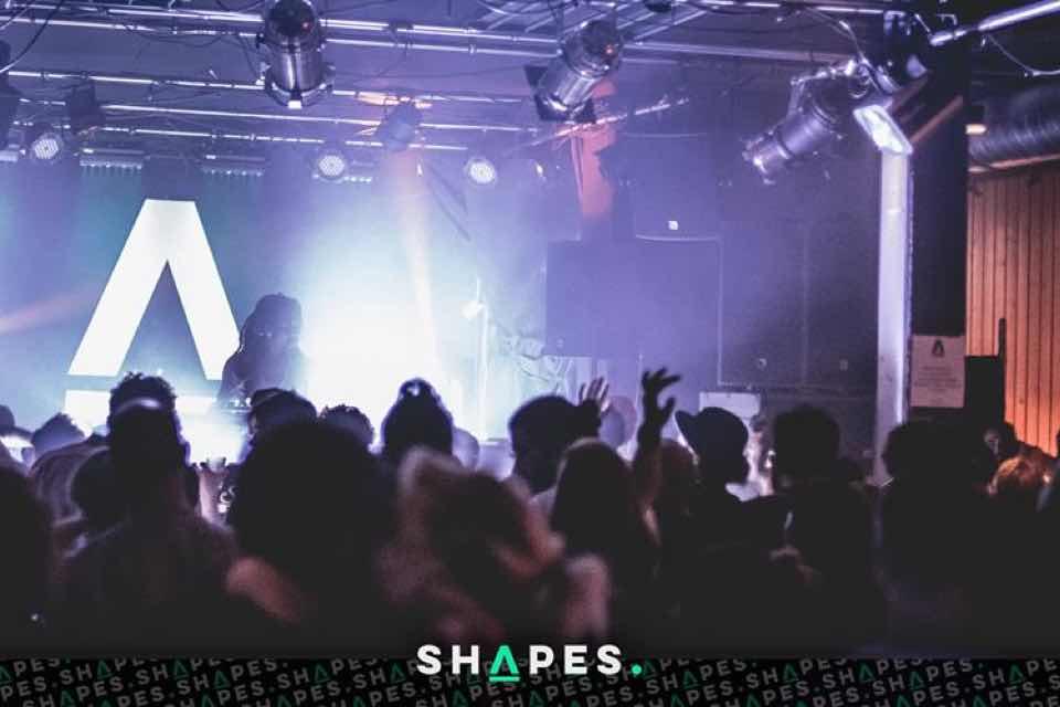 Stage lights at Shapes Festival Leysin