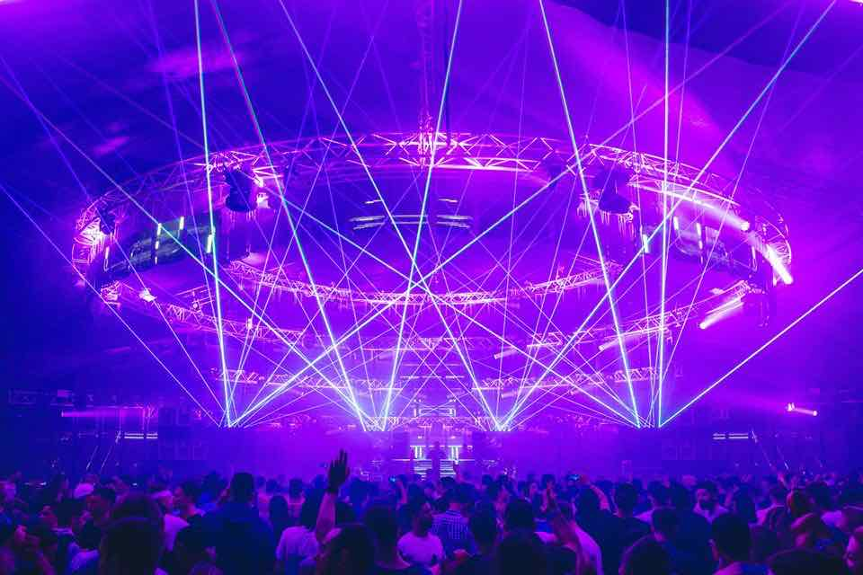 Laser show at Snowbombing Festival
