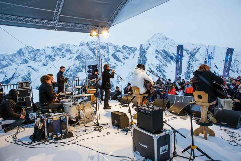 Mountain view stage at Snowbombing Festival