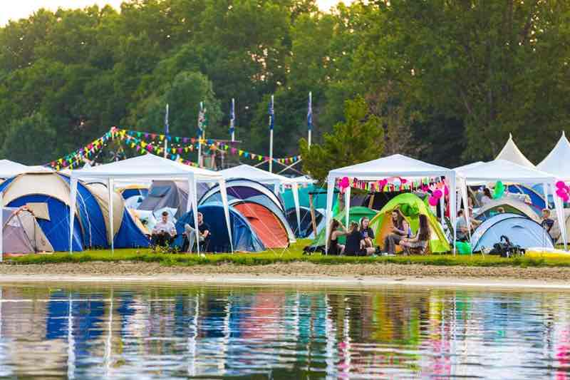 Camping by the lake at Solar Weekend Festival