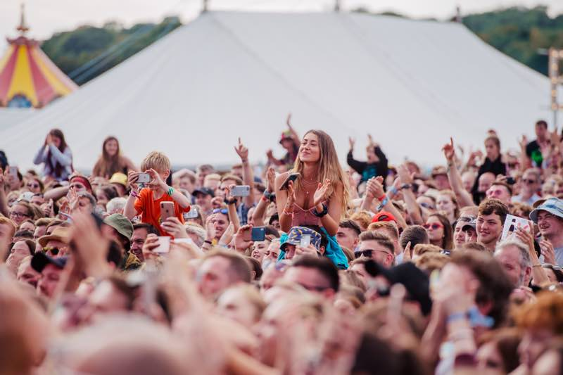 Fans at Standon Calling Festival