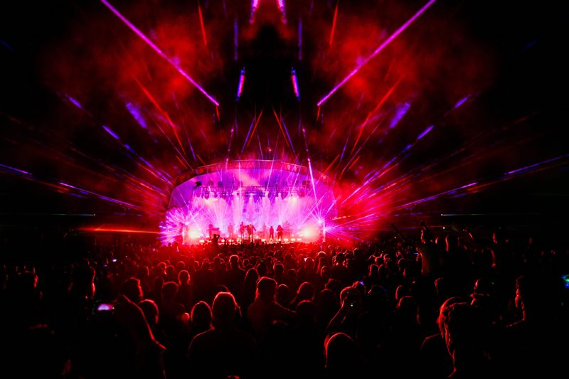 Stage lights show at Standon Calling Festival