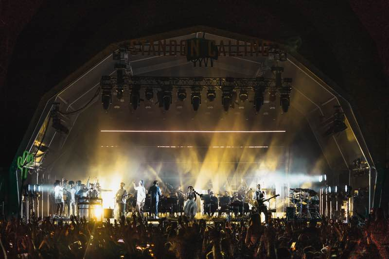Main stage show at Standon Calling Festival