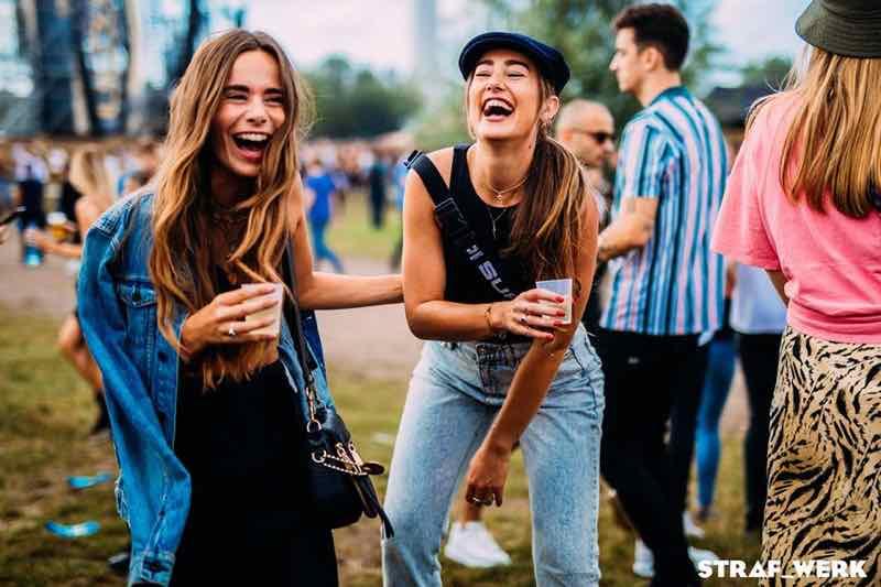 Fans enjoying at Straf Werk Festival