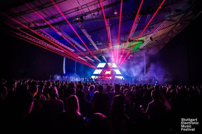 Laser show at Stuttgart Electronic Music Festival