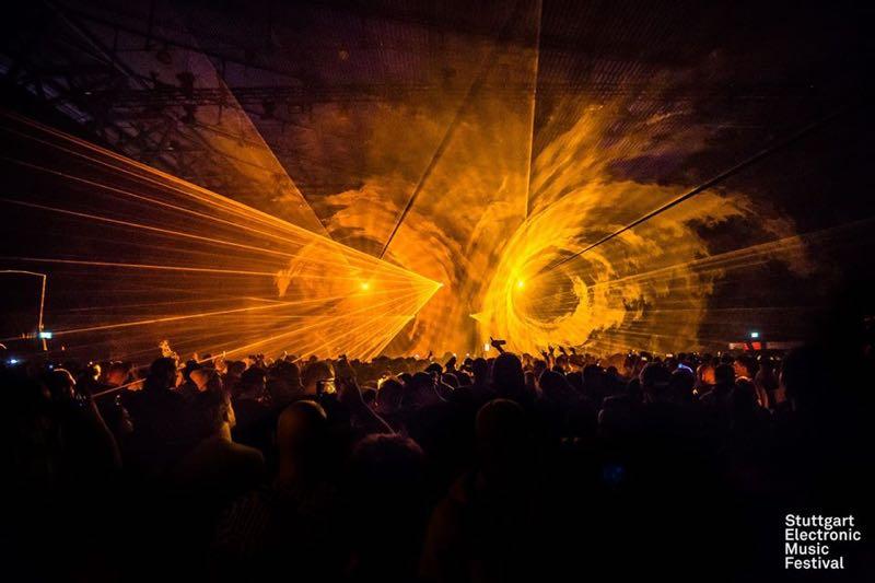 Lights show at Stuttgart Electronic Music Festival