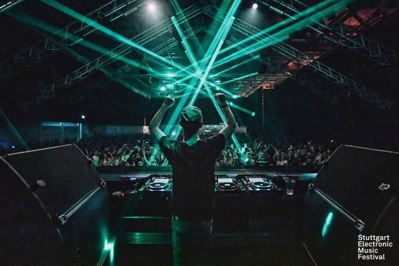Performing at Stuttgart Electronic Music Festival