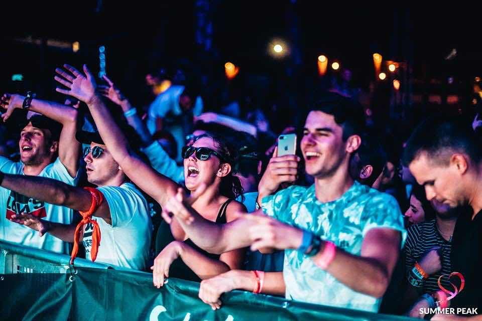 Fans at Summer Peak Festival
