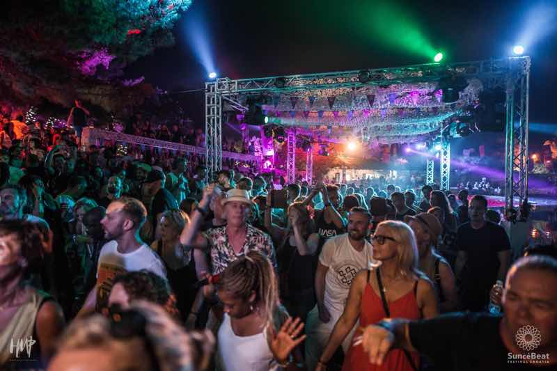 Dancing main stage at Suncebeat Festival