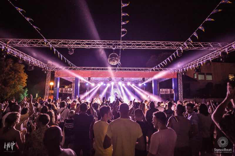 Stage lights show at Suncebeat Festival