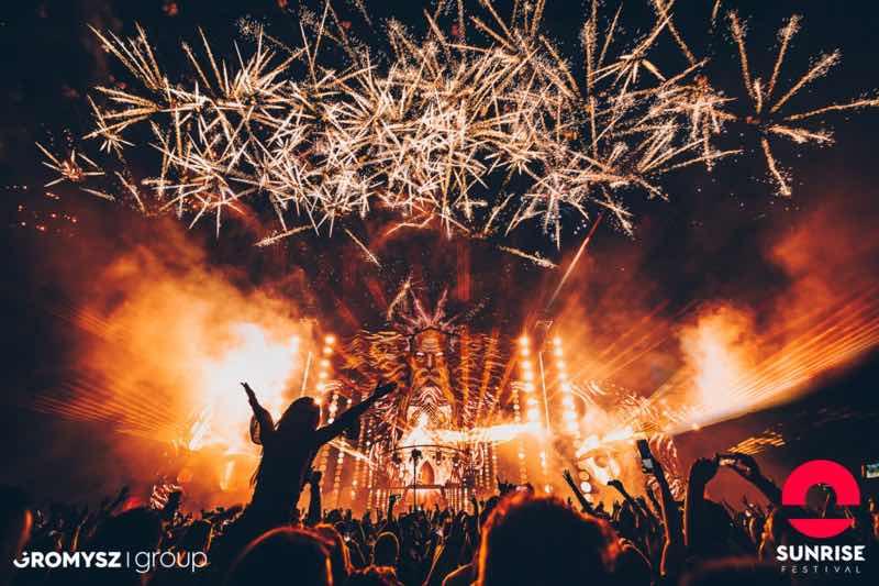 Fireworks at Sunrise Festival