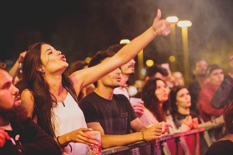 Fans enjoying at Super Bock Super Rock Festival
