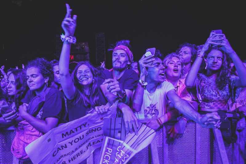Front row fans at Super Bock Super Rock Festival