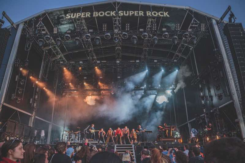 Performing at Super Bock Super Rock Festival