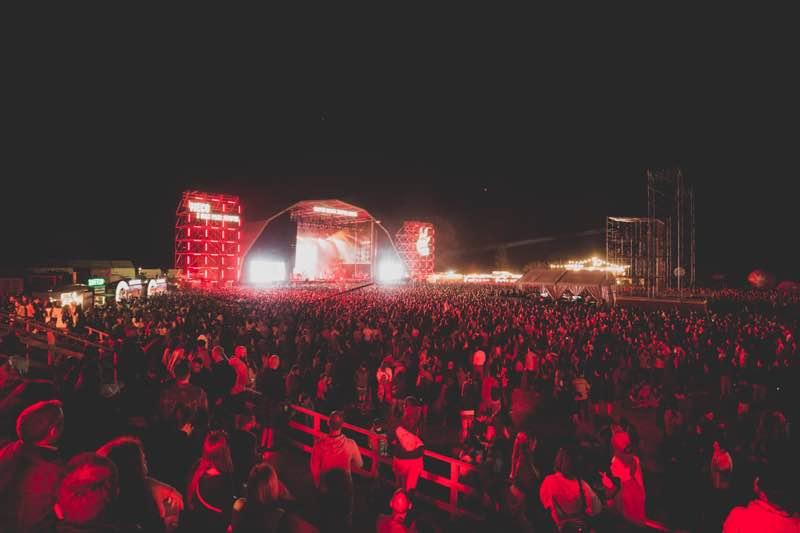 Stage lights show at Super Bock Super Rock Festival