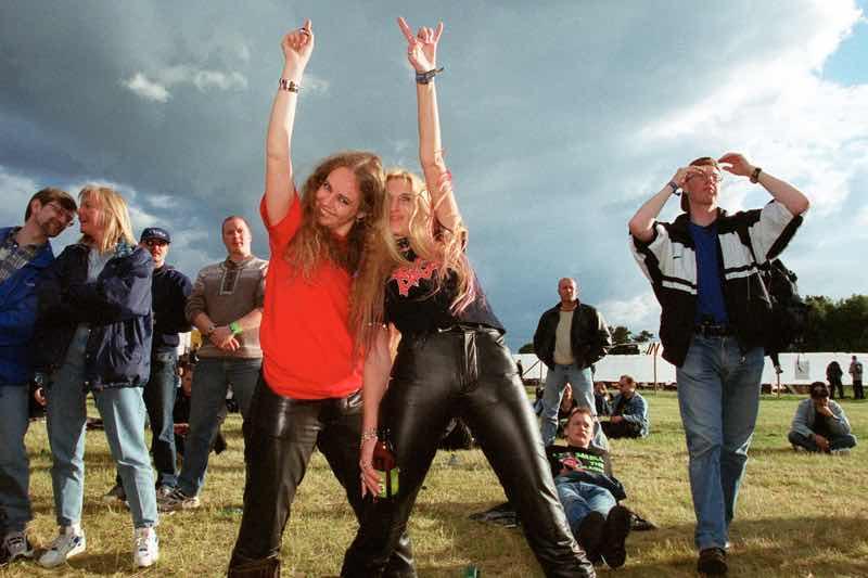 Fans enjoying at Sweden Rock Festival