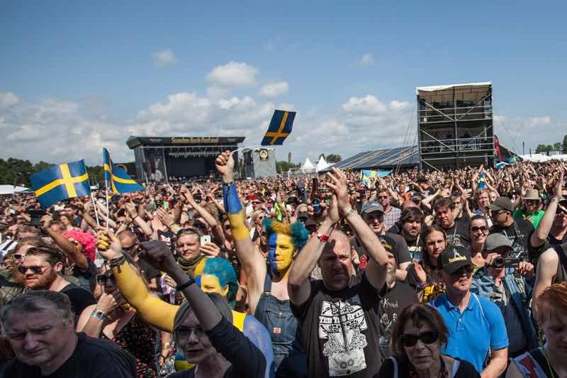 Fans excited at Sweden Rock Festival