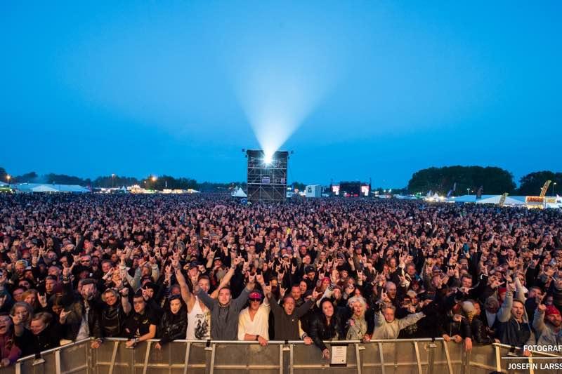 Fans at Sweden Rock Festival
