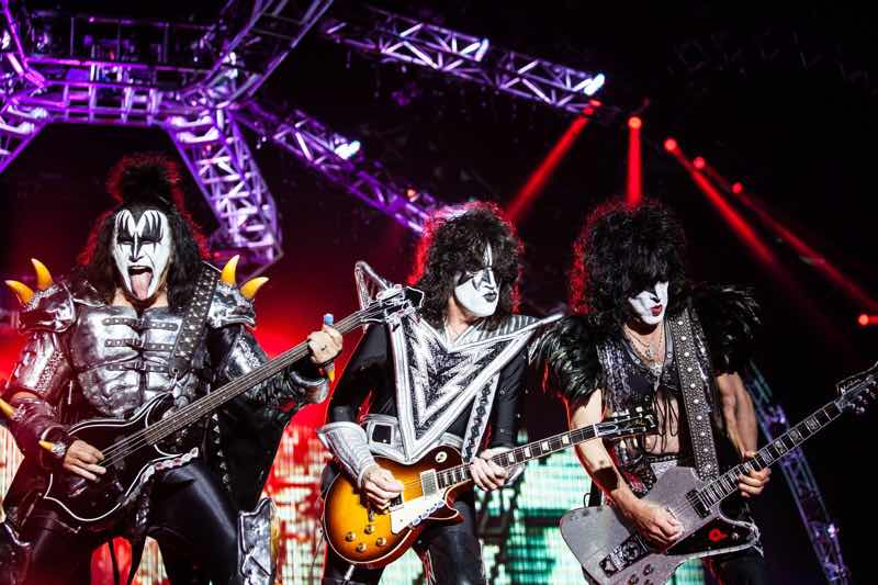 Kiss performing at Sweden Rock Festival