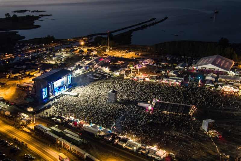 View at Sweden Rock Festival