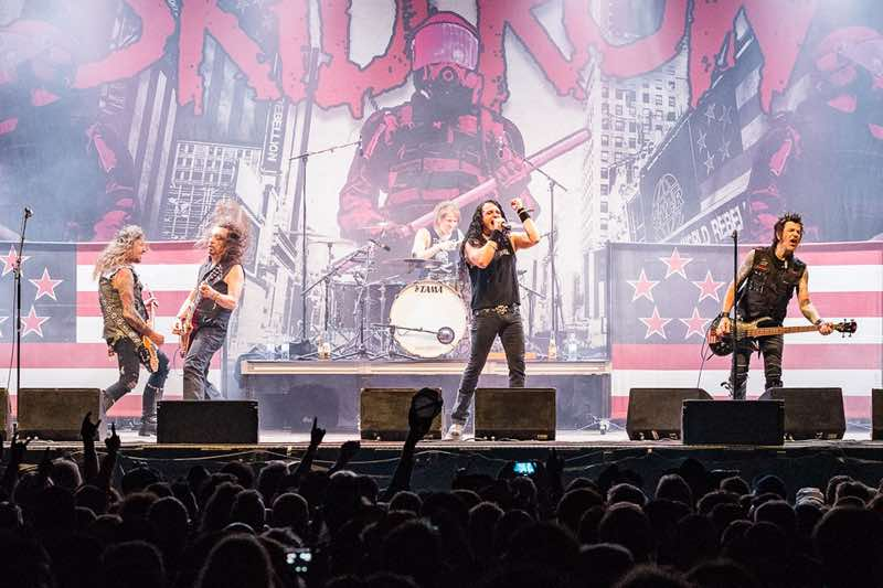Skid Row band performing at Sweden Rock Festival